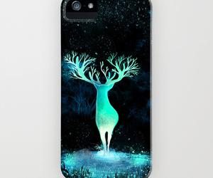 art illustration, iphone6, and deer image
