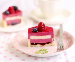food, cake, and pink image