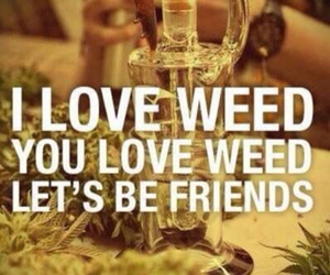 weed, love, and friends image
