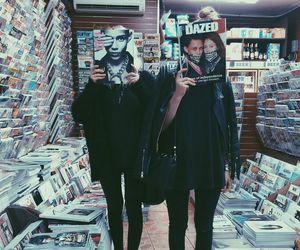 grunge, hipster, and black image