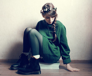 book, fashion, and green image