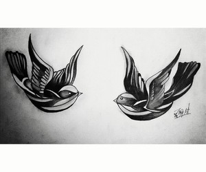 birds, draw, and Harry Styles image