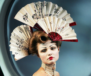 Couture, fashion, and headpiece image
