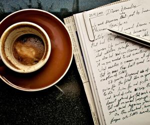 coffee, book, and writing image