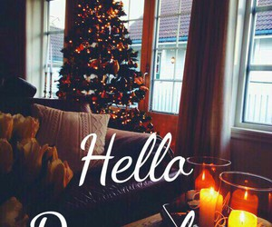 december and hello image