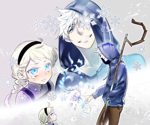 elsa, jack frost, and frozen image