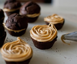 chocolate, cupcake, and delicious image