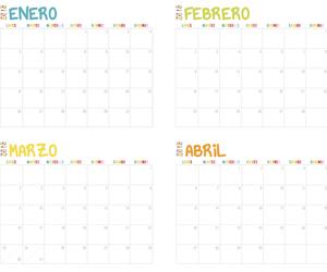 calendar, rainbow, and printable image