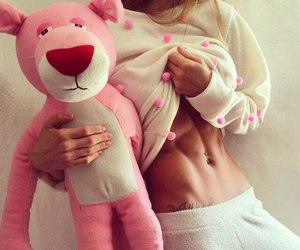 girl, pink, and body image