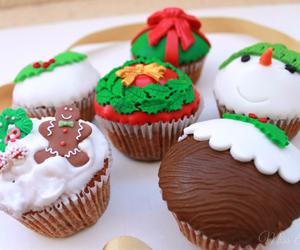 christmas and cupcakes image