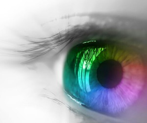 colorful, eyes, and innocent image