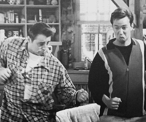 bromance, joey tribianni, and chandler bing image