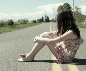 girl, dress, and road image