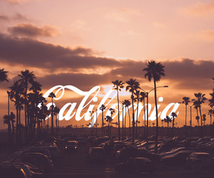 california, summer, and sunset image