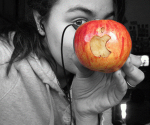 apple, eyebrow, and red image