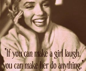Marilyn Monroe, quote, and laugh image