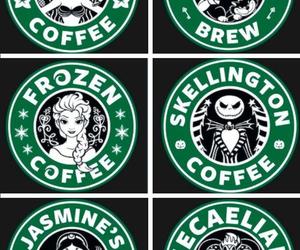 starbucks, disney, and coffee image