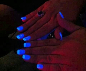 blue, fluo, and nails image