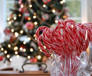 christmas, candy, and light image