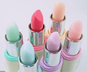 lipstick, pastel, and makeup image