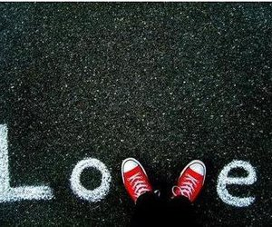 love, converse, and red image