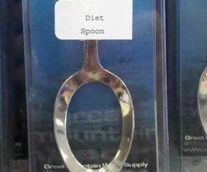 diet, funny, and spoon image