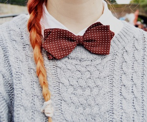 braid, sweater, and dots image