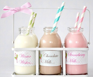 milk, chocolate, and strawberry image