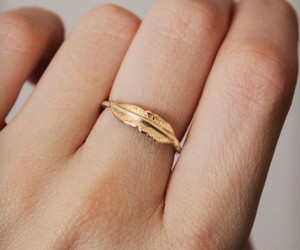 ring, feather, and gold image