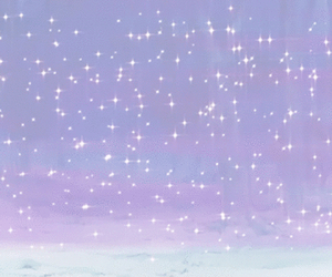 purple, stars, and kawaii image