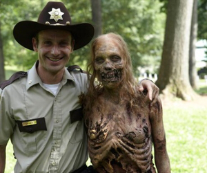 carol, death, and rick grimes image