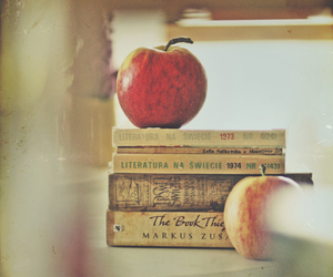 book, apple, and photography image