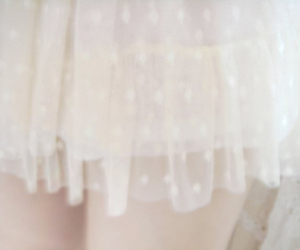 white, dreamy, and dress image