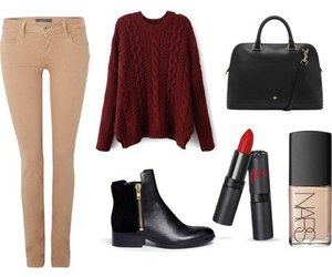 lipstick, outfit, and red image