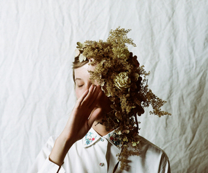 floral, flowers, and portrait image