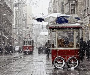 istanbul, winter, and beyoglu image