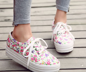 sneakers and flowers image