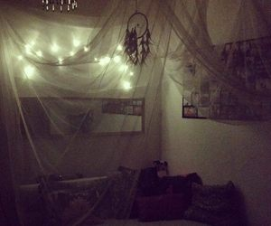 bed, canopy, and lights image