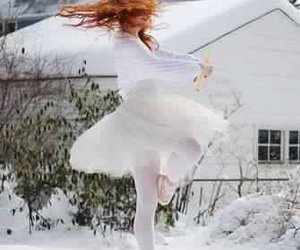 ballet, snow, and dance image