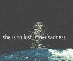 lost, ocean, and sad image