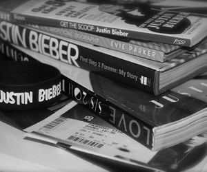 books, justin, and bieber image