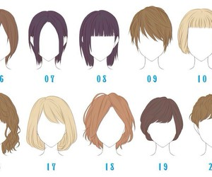 anime, draw, and hair image