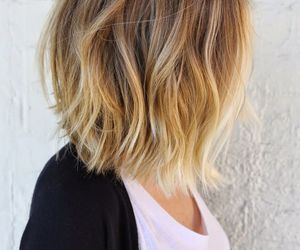 blonde, bob, and ombre image
