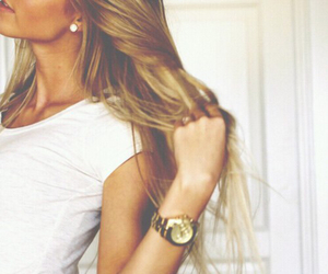 beautiful girl, beauty, and gold image