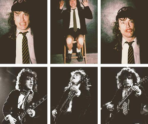 ACDC, angus young, and rock image