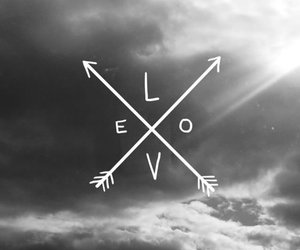 love, arrows, and black image