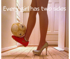 football, two sides, and football girl image