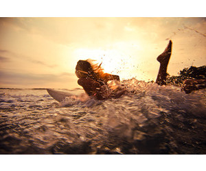 sea, summer, and surfing image