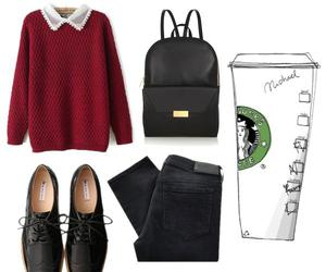 autumn, black, and black trousers image