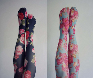 flowers, fashion, and tights image
